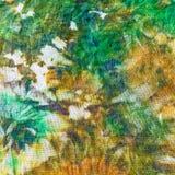 Detail of painting on silk batik Stock Photos