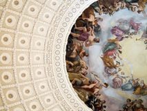 Detail of Painting in United States Capitol Building Royalty Free Stock Image