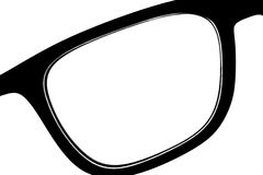 Detail of a pair of glasses with high contrast.  Stock Photo