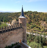 Detail of the Palace of the Alcazar in Segovia Stock Image