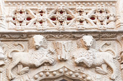 Detail of the Palace of the Infantry (Guadalajara, Spain) Stock Images