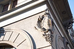 Detail of the palace of Russian Tsar café in Belgrade Stock Image