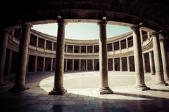 Detail of the Palacio de Carlos V Royalty Free Stock Photos