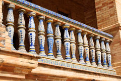 Detail of Palacio Espanol in Seville Royalty Free Stock Image