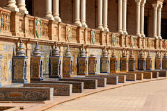 Detail of Palacio Espanol in Seville, Spain Stock Images