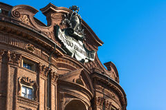 Detail of Palazzo Carignano in Turin Stock Photography