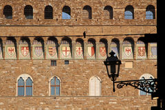Detail of Palazzo Vecchio Architecture Royalty Free Stock Image