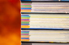 Detail of a pale of books. Detail of a pale of coloured books Royalty Free Stock Image