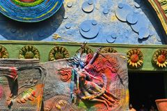 Detail of Pandal, temporary temple dedicated to Stock Photography