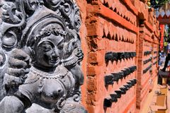 Detail of Pandal, temporary temple dedicated to Royalty Free Stock Photography