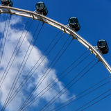 Detail of Panoramic Wheel. Detail of a panoramic wheel on a sunny summer day Stock Image