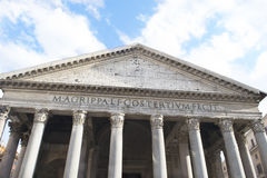 Detail of the Pantheon in Rome Royalty Free Stock Photos