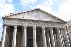 Detail of the Pantheon in Rome Stock Photography
