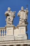 Detail of Papal Archbasilica of St. John Lateran in Rome. Rome, Italy - August 17, 2015: Detail of Papal Archbasilica of St. John Lateran. (It is the oldest and royalty free stock photo