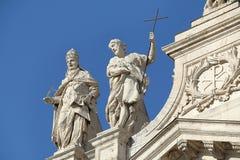 Detail of Papal Archbasilica of St. John Lateran in Rome. Rome, Italy - August 17, 2015: Detail of Papal Archbasilica of St. John Lateran. (It is the oldest and stock photo