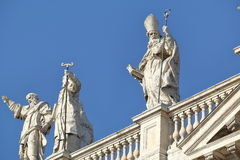 Detail of Papal Archbasilica of St. John Lateran in Rome. Rome, Italy - August 17, 2015: Detail of Papal Archbasilica of St. John Lateran. (It is the oldest and royalty free stock photography