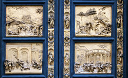 Detail of the paradise gate in Florence Stock Photo