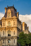 Detail of Paris City Hall facade before sunset, France Stock Image