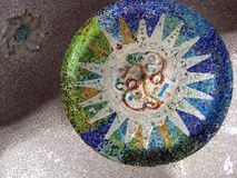 A detail of the Park Güell Royalty Free Stock Photo