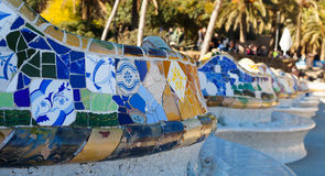 Detail of Park Guell. Barcelona Royalty Free Stock Image