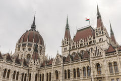 Detail of the parliament building in Budapest Royalty Free Stock Images