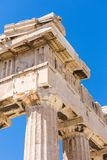 Detail of the Parthenon, Acropolis of Athens, Athens, Greece, Eu stock photography