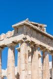 Detail of the Parthenon, Acropolis of Athens, Athens, Greece, Eu stock photo