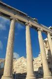 Detail of Parthenon, ancient Greek temple on the Acropolis. Vint Stock Photo