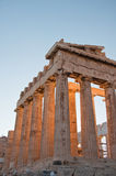 Detail of the Parthenon on the Athenian Acropolis, Greece Stock Images