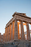 Detail of the Parthenon on the Athenian Acropolis, Greece Royalty Free Stock Photography