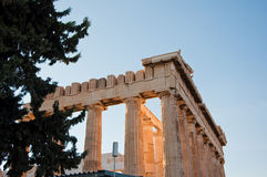 Detail of the Parthenon on the Athenian Acropolis, Greece Royalty Free Stock Image