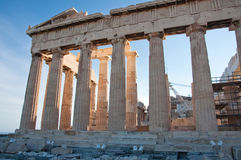 Detail of the Parthenon on the Athenian Acropolis, Greece Royalty Free Stock Photo