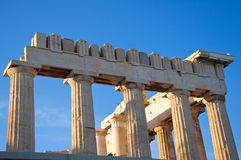 Detail of the Parthenon on the Athenian Acropolis, Greece Stock Image