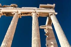 Detail of Parthenon temple Acropolis Royalty Free Stock Photos
