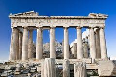 Detail of Parthenon temple Acropolis Stock Photo