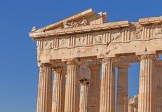 Detail of Parthenon temple Stock Photo