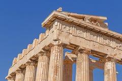Detail of Parthenon temple Stock Image