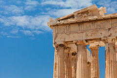 Detail of the Parthenon temple. Athens, Greece. Stock Images