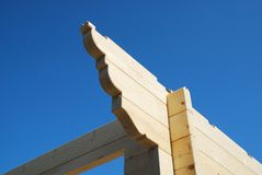 Detail, Partially Constructed Wood House Stock Image