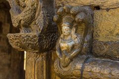 Detail of the Pashupatinath Temple in Kathmandu stock photography