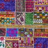 Detail patchwork carpet Stock Photos