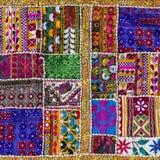 Detail patchwork carpet. Close up. Detail colorful patchwork carpet. Close up royalty free stock images