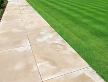 Detail of path and lawn Royalty Free Stock Photography