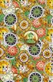 Detail pattern of batik fablic Royalty Free Stock Images