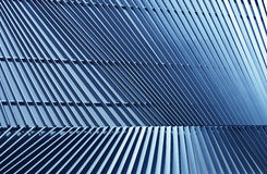 Detail of pattern metal facade for background Stock Photography