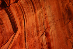Detail patterns and cracks in Red Navajo sandstone walls Royalty Free Stock Photography