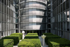 Detail of Paul-Loebe Haus, part of the German Chancellery buildi Royalty Free Stock Images