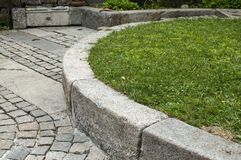 Detail of paved garden Royalty Free Stock Images
