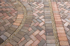 Detail of Pavers Stock Photo
