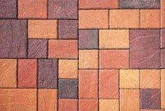 Detail of paving slabs of masonry Stock Image
